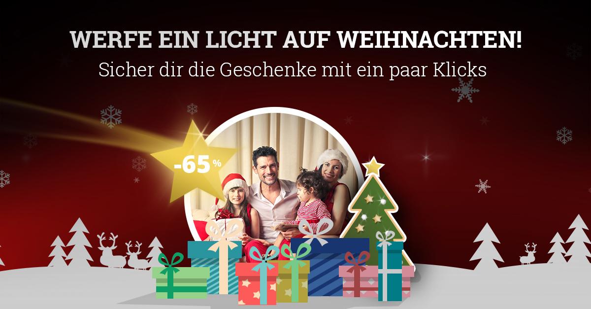 Kaufe Weihnachtsgeschenke mit einem Rabbat bis zu 65% ein!