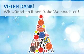 Vielen dank! Wir wünschen Ihnen frohe Weihnachten!