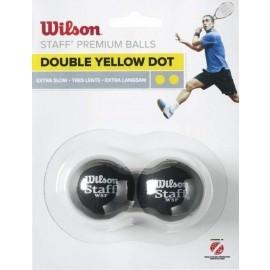 Wilson STAFF SQUASH 2 BALL DBL YEL DOT - Squashball