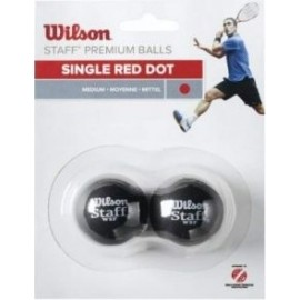 Wilson STAFF SQUASH 2 BALL RED DOT - Squashschläger