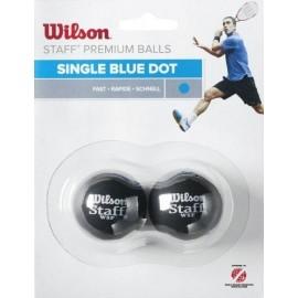 Wilson STAFF SQUASH 2 BALL BLU DOT - Squashball