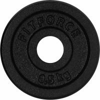 Fitforce HANTELSCHEIBE 0,5KG SCHWARZ