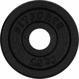 Fitforce HANTELSCHEIBE 0,5KG SCHWARZ - Hantelscheibe