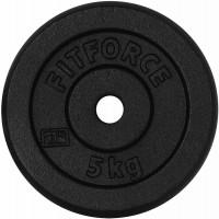 Fitforce HANTELSCHEIBE 5KG SCHWARZ
