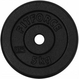 Fitforce HANTELSCHEIBE 5KG SCHWARZ - Hantelscheibe