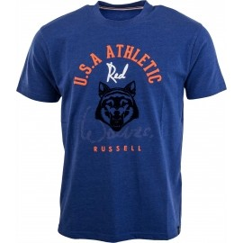 Russell Athletic CREW NECK T-SHIRT WITHFLOCK