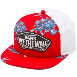 Vans BEACH GIRL TRUCKER HAT Tomato Hawaiian - Damen Trucker-Cap