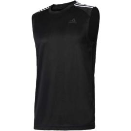 adidas DESIGN TO MOVE SLEEVELESS 3 STRIPES - Herren Trainingsshirt