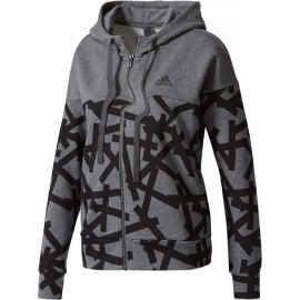 adidas ESSENTIALS ALL OVER PRINT FULL ZIP HOODIE