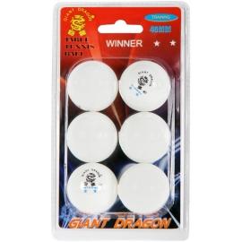 Giant Dragon WHT PI PO MICKY 6PCS - Tischtennisbälle