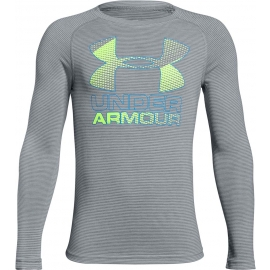 Under Armour HYBRID BIG LOGO LS TEE - Knaben-T-Shirt