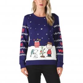 Vans PEANUTS CHRISTMAS CREW - Damen Sweatshirt