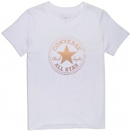 Converse CLEAR FOIL CHUCK PATCH CREW - Damen T-Shirt