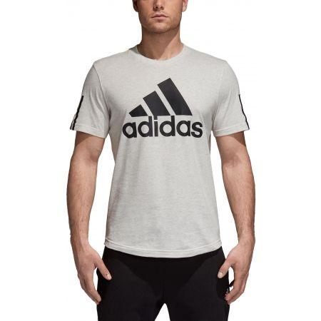 Herren T-Shirt - adidas M SID LOGO Tee - 5