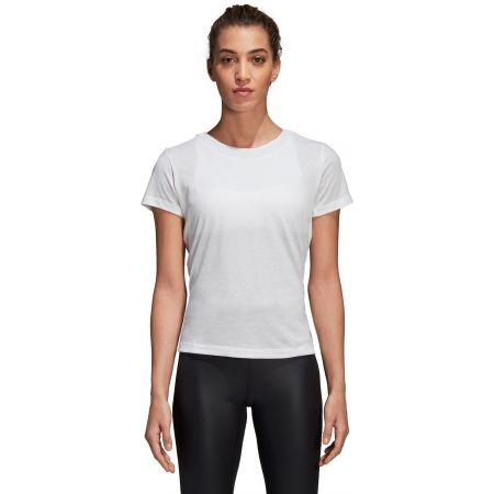 Damen T-Shirt - adidas LOW BACK TEE - 2