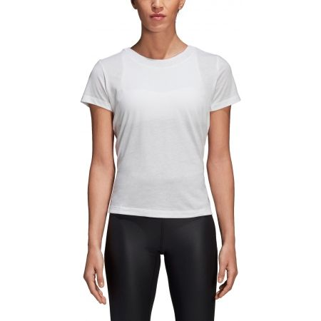 Damen T-Shirt - adidas LOW BACK TEE - 8