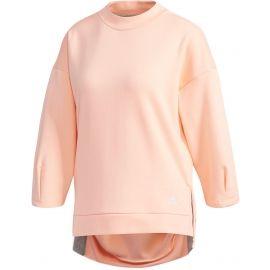 adidas W S2S BIG LOGO FLEECE 3/4 SLEEVE PULLOVER SWT - Damen Hoodie