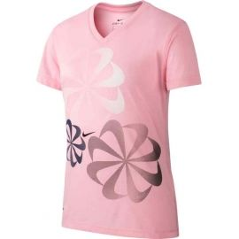 Nike NK DRY LEG TEE V SWOOSH - Mädchen Trainingsshirt