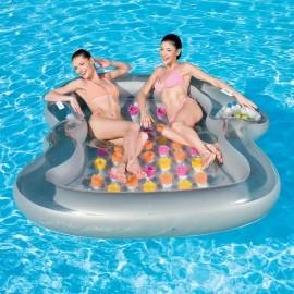 Bestway DOUBLE DESIGN - Aufblasbare Luftmatratze für zwei Personen - Bestway